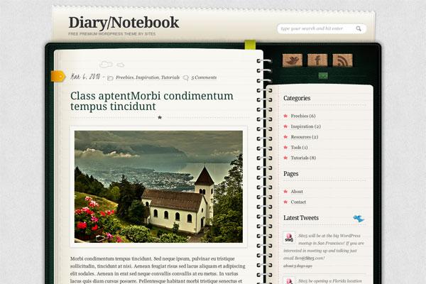 diary-notebook  premium wordpress theme