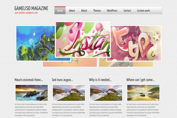 gameliso premium wordpress theme