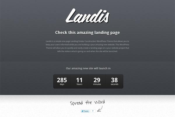 landis premium wordpress theme