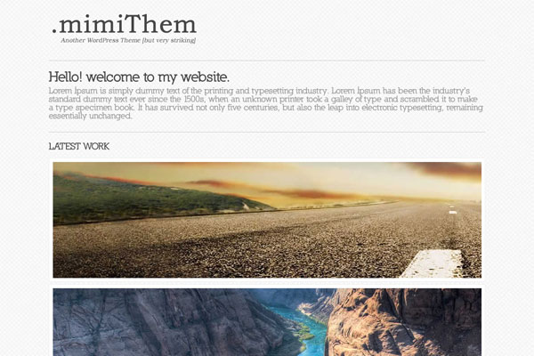 mimithem premium wordpress theme