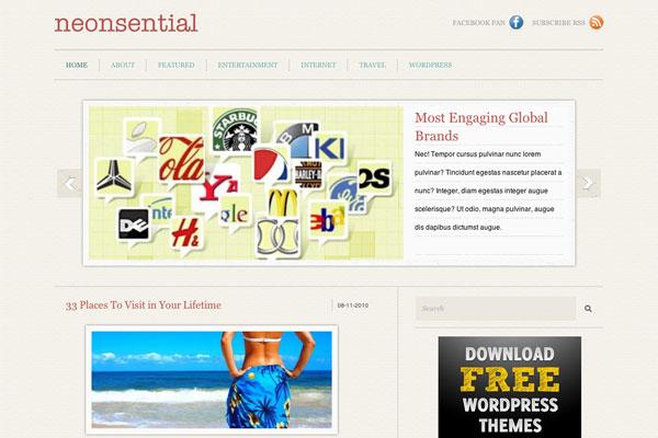 neonsential premium wordpress theme