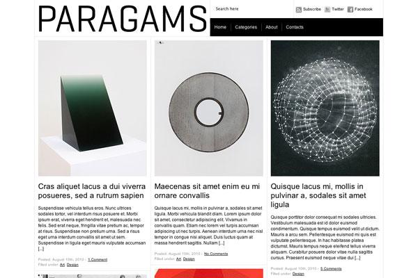 paragams premium wordpress theme