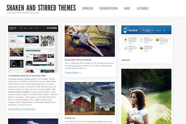 shaken grid premium wordpress theme