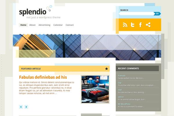 splendio premium wordpress theme