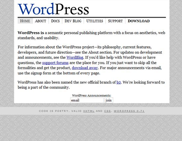 432 Как  менялся дизайн WordPress за 15 лет
