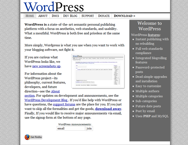 542 Как  менялся дизайн WordPress за 15 лет