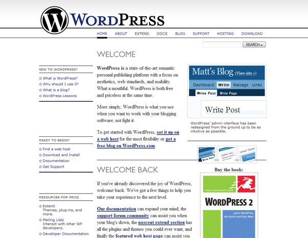 63 Как  менялся дизайн WordPress за 15 лет