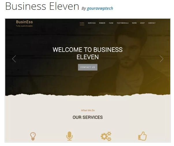 Business Eleven тема вордпресс