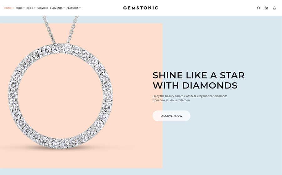 19cf0b51f3d8 Gemstonic - Elementor WooCommerce шаблон ювелирного магазина