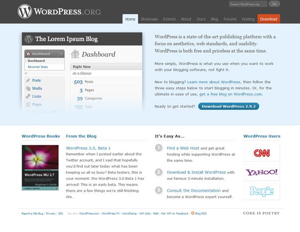 731 Как  менялся дизайн WordPress за 15 лет