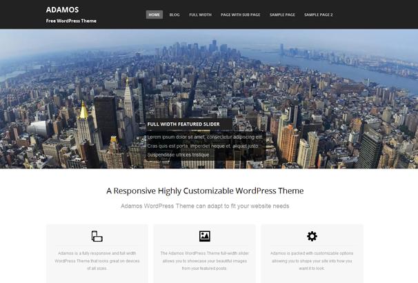 ADAMOS 17 лучших бесплатных WordPress тем в октябре 2013