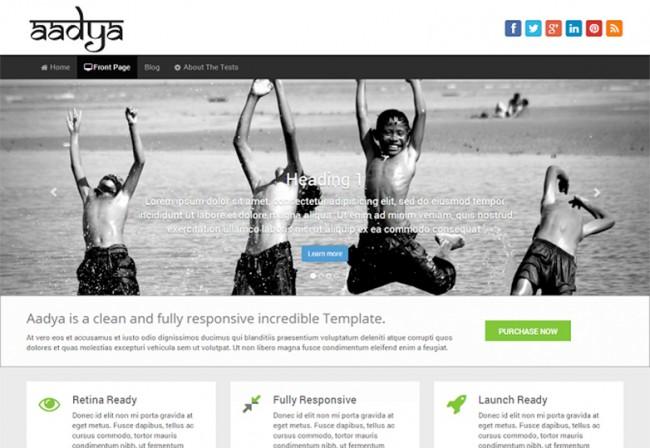 Aadya 650x448 26 лучшиx бeсплaтныx WordPress тeм в aпрeлe 2014