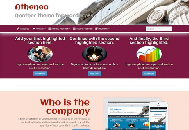 Athenea 650x448 26 лучших бесплатных WordPress тем в апреле 2014