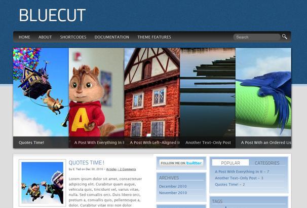 BLUECUT 17 лучших бесплатных WordPress тем в октябре 2013