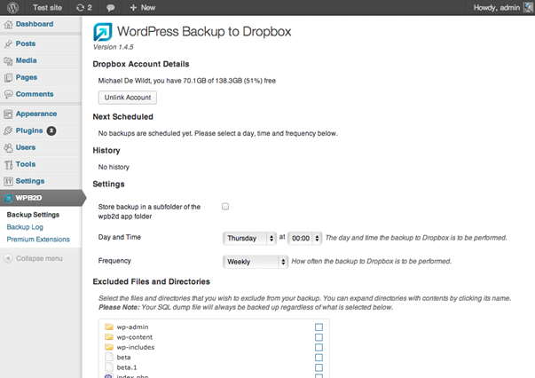 Backups Dropbox Плагины и сервисы для резервного копирования сайтов на WordPress
