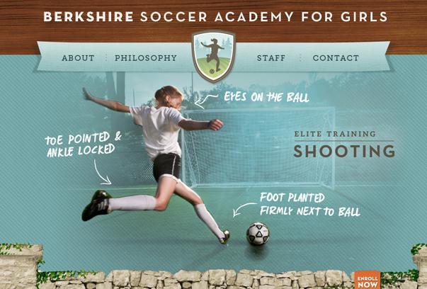 Berkshire-Soccer-Academy 30 самых необычных и красивых сайтов, сделанных на WordPress по версии WPlift.com