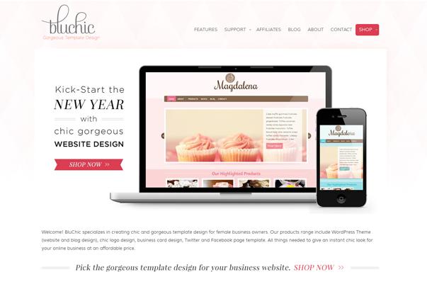 BluChic 30 самых необычных и красивых сайтов, сделанных на WordPress по версии WPlift.com