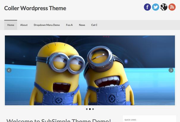 COLLER 17 лучших бесплатных WordPress тем в октябре 2013
