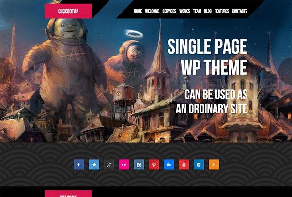 CUCKOOTAP1 35 бесплатных и платных тем WordPress для одностраничных сайтов визиток
