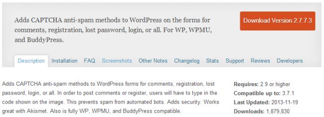 Capture214 650x235 Лучшие плагины CAPTCHA для вашего WordPress сайта