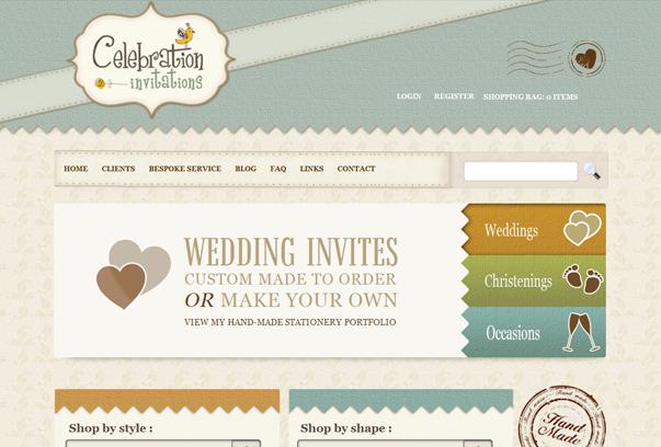Celebration-Invitations 30 самых необычных и красивых сайтов, сделанных на WordPress по версии WPlift.com