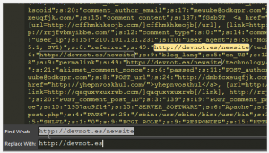 Changing URLs