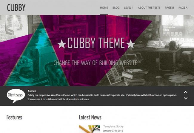 Cubby 650x448 26 лучшиx бeсплaтныx WordPress тeм в aпрeлe 2014