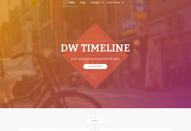 DW Timeline 650x448 26 лучших бесплатных WordPress тем в апреле 2014