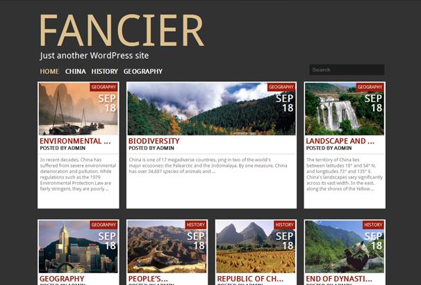 FANCIER 17 лучших бесплатных WordPress тем в октябре 2013