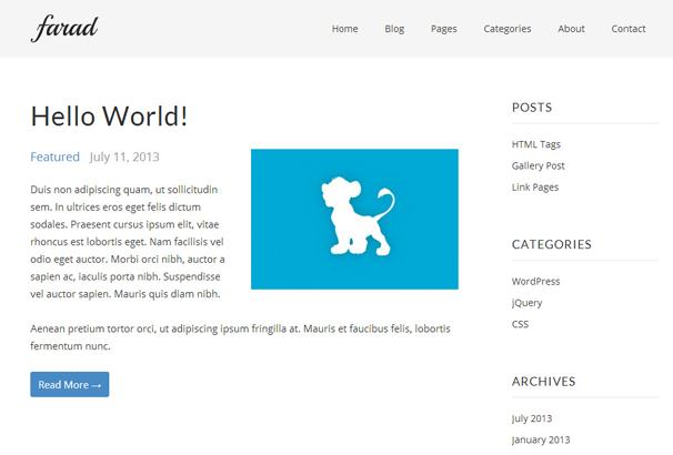 FARAD 17 лучших бесплатных WordPress тем в октябре 2013