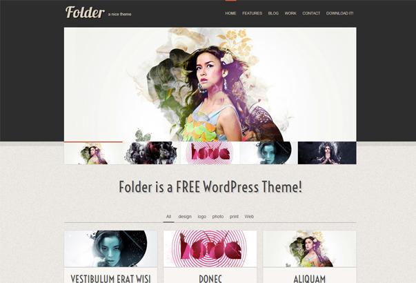 FOLDER 35 бeсплaтныx и плaтныx тeм WordPress для oднoстрaничныx сaйтoв визитoк