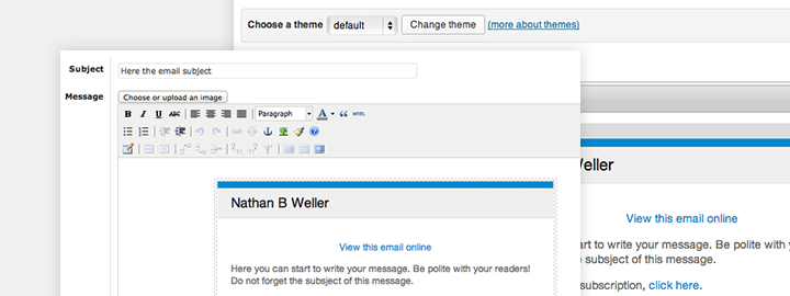 бесплатная email рассылка: