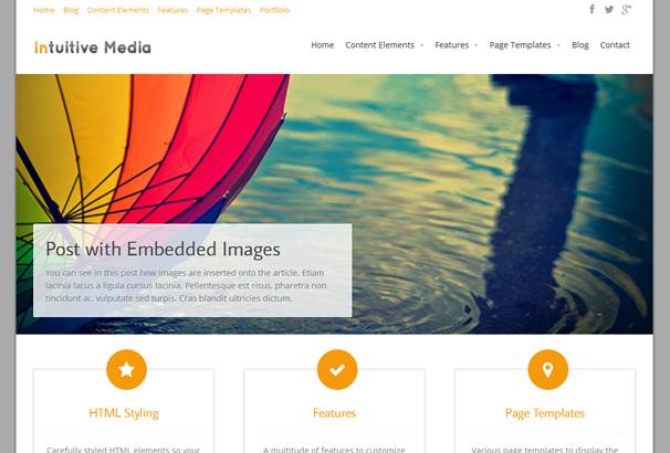 INTUITION 17 лучших бесплатных WordPress тем в октябре 2013