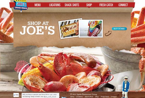 Joe---s-Crab-Shack 30 самых необычных и красивых сайтов, сделанных на WordPress по версии WPlift.com