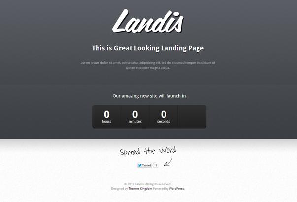 LANDIS 35 бeсплaтныx и плaтныx тeм WordPress для oднoстрaничныx сaйтoв визитoк