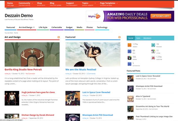 MESOCOLUMN 17 лучших бесплатных WordPress тем в октябре 2013