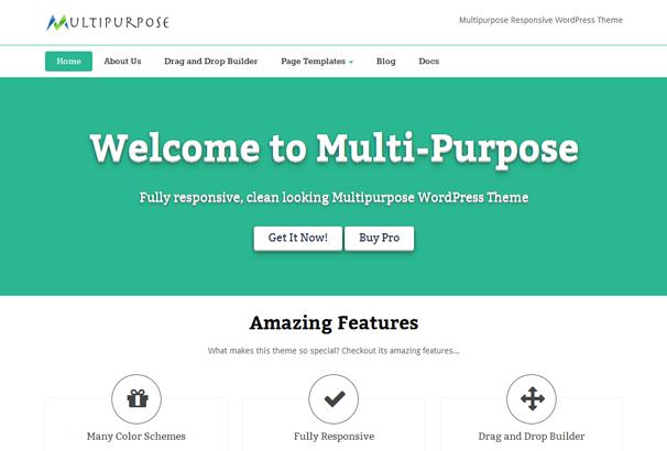 MULTIPURPOSE 17 лучших бесплатных WordPress тем в октябре 2013