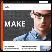 Make — бесплатная тема WordPress для создания страниц с помощью drag-and-drop