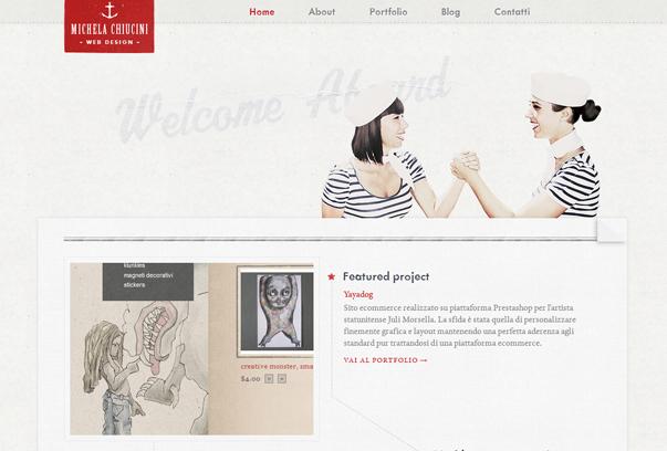 Michela-Chiucini 30 самых необычных и красивых сайтов, сделанных на WordPress по версии WPlift.com
