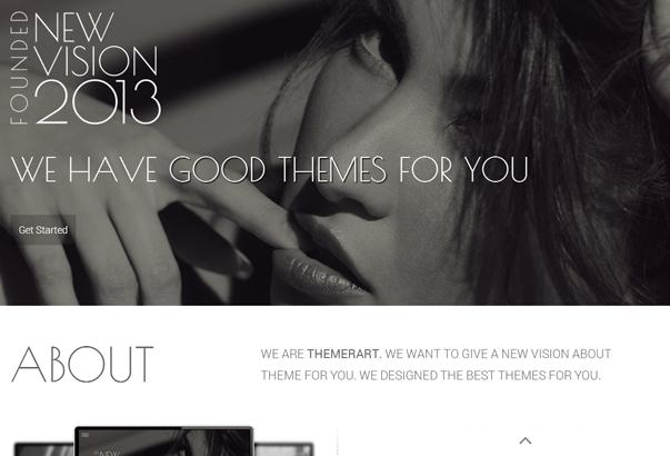 NEW VISION 35 бесплатных и платных тем WordPress для одностраничных сайтов визиток