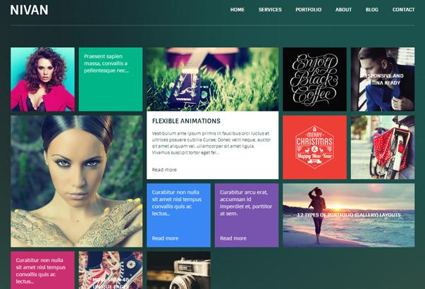 NIVAN 35 бесплатных и платных тем WordPress для одностраничных сайтов визиток
