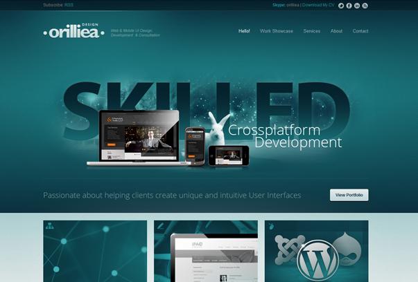 Orilliea-Design 30 самых необычных и красивых сайтов, сделанных на WordPress по версии WPlift.com