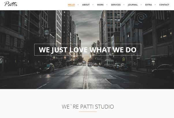 PATTI 35 бесплатных и платных тем WordPress для одностраничных сайтов визиток