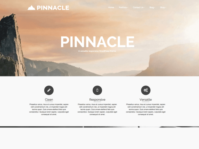 тема Pinnacle для вордпресс