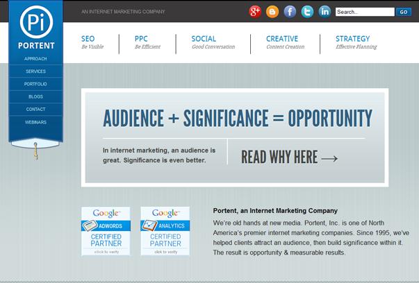 Portent 30 самых необычных и красивых сайтов, сделанных на WordPress по версии WPlift.com