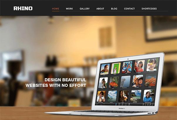RHINO1 35 бесплатных и платных тем WordPress для одностраничных сайтов визиток