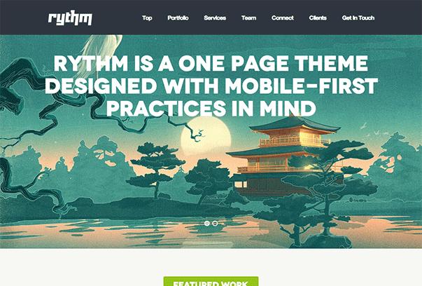 RYTHM1 35 бесплатных и платных тем WordPress для одностраничных сайтов визиток