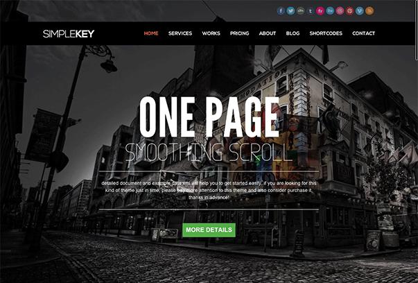 SIMPLEKEY1 35 бесплатных и платных тем WordPress для одностраничных сайтов визиток