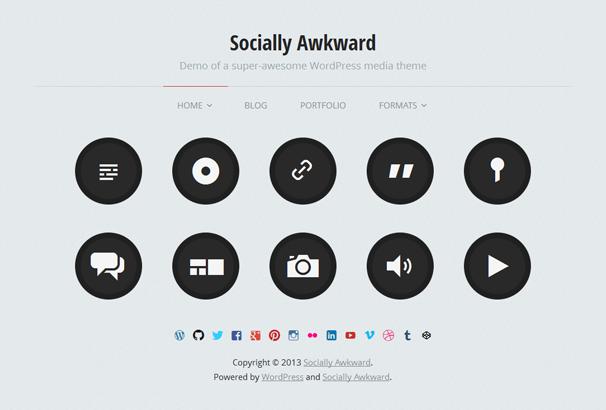 SOCIALLY AWKWARD 17 лучших бесплатных WordPress тем в октябре 2013