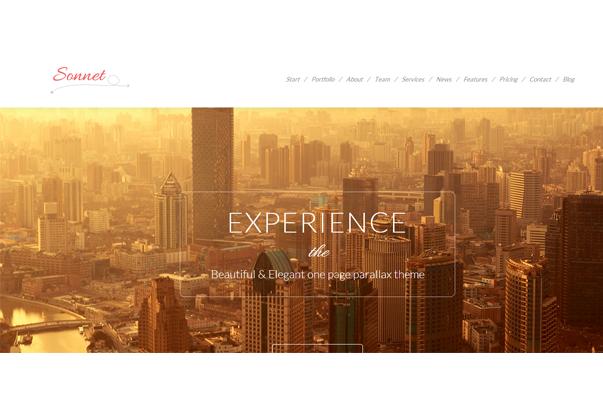 SONNET1 35 бесплатных и платных тем WordPress для одностраничных сайтов визиток